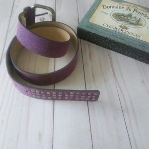 Accessories - Italian Suede Studded Belt